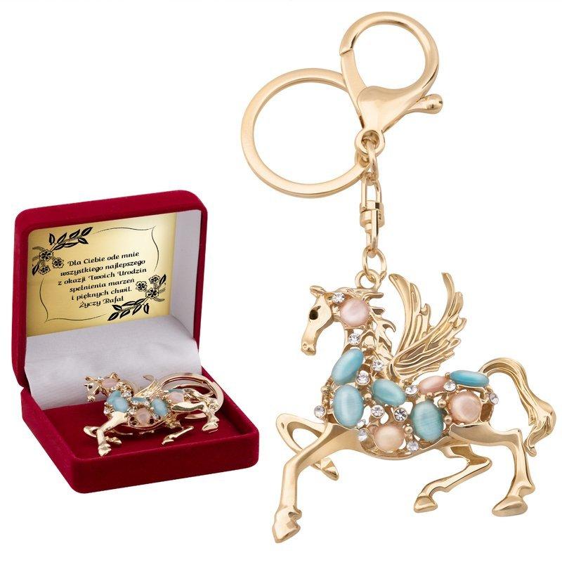 Breloczek do kluczy Swarovski Koń PREZENT GRAWER
