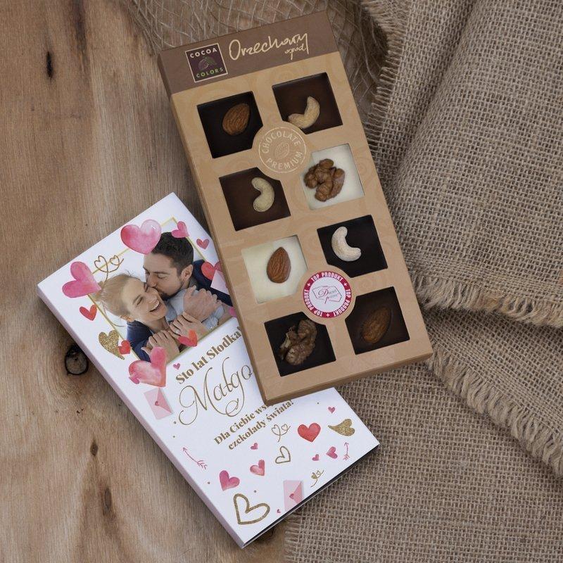 Czekolady świata - czekoladki orzechowa wariacja z dedykacją