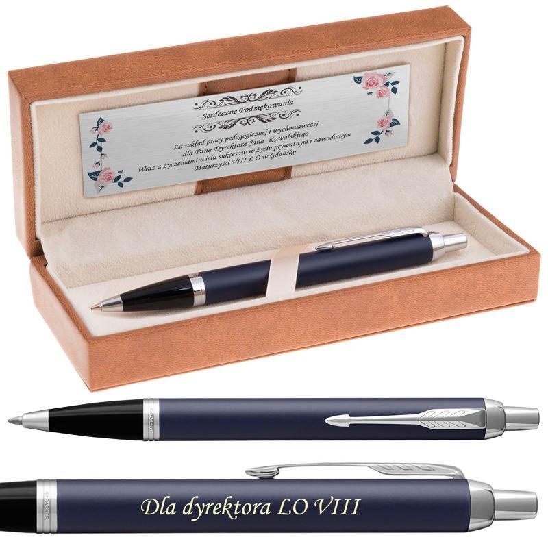 Długopis Parker IM Niebieski Mat CT Grawer Dedykacja