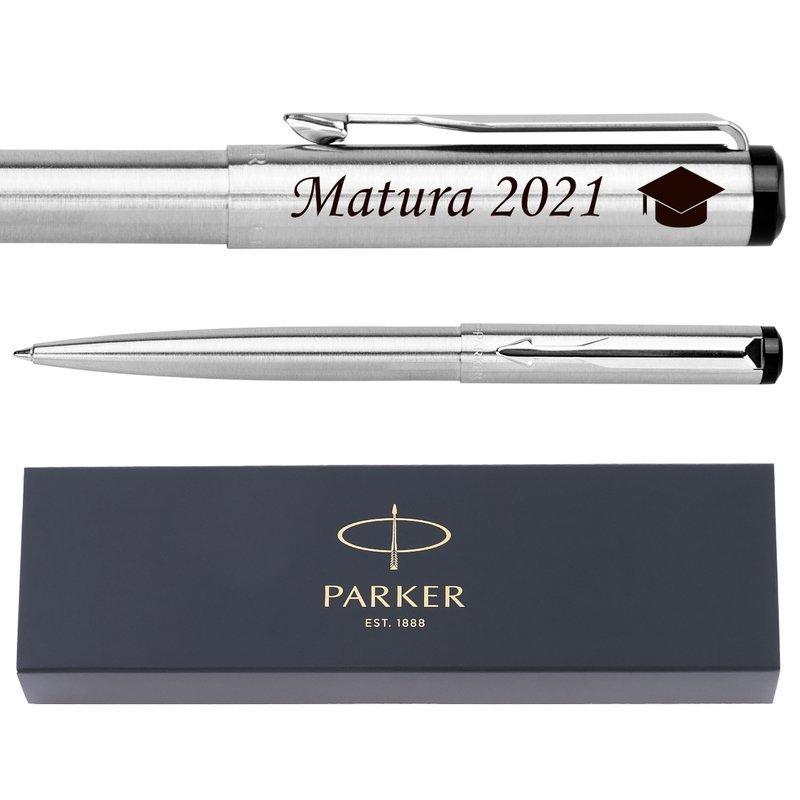 PARKER Vector Długopis Stalowy Prezent GRAWER