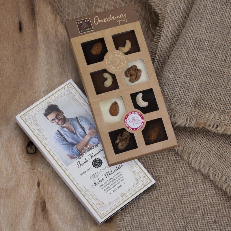 Sto Lat Milordzie - czekoladki z orzechami z dedykacją