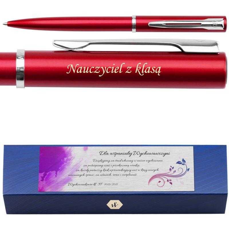 Waterman Allure Długopis Czerwony CT Grawer