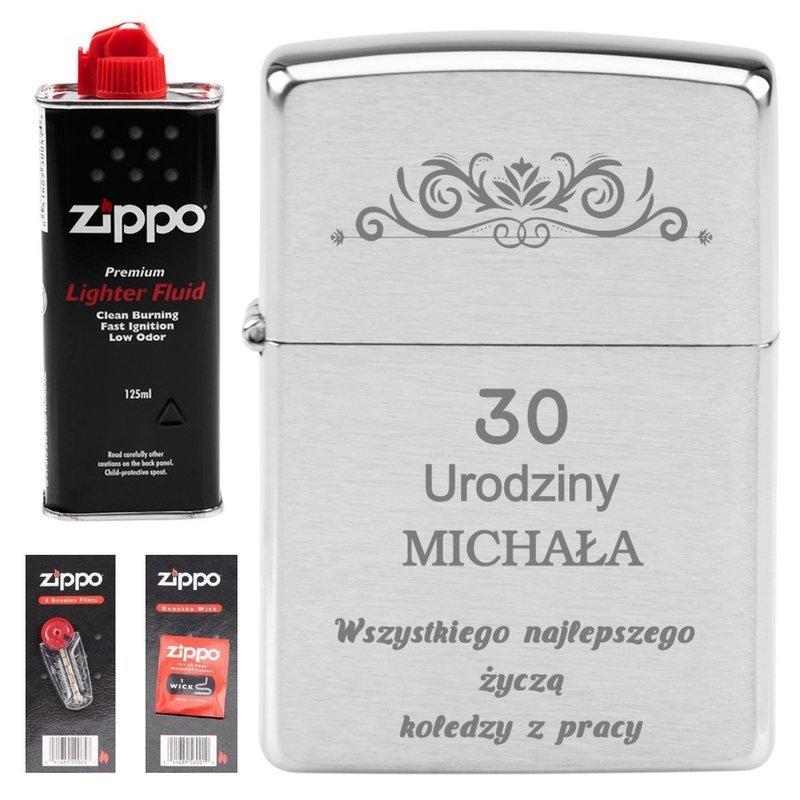 Zapalniczka Benzyna knoty ZIPPO 200 GRAWER Zdjęcia