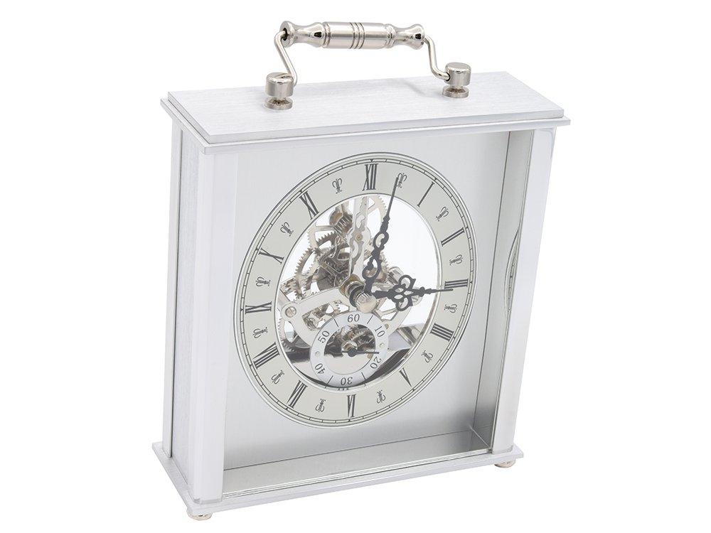 Aluminiowy Zegar Skeleton PREZENT URODZINY GRAWER