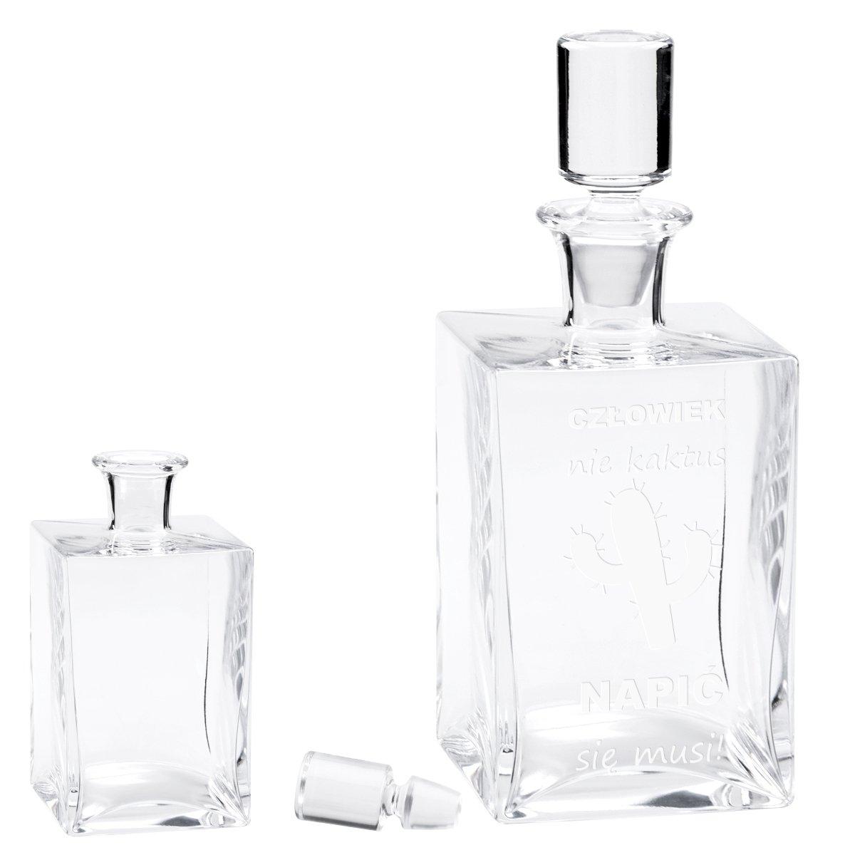 Karafka ze szkła do whisky 750 ml Caro Prezent z Grawerem