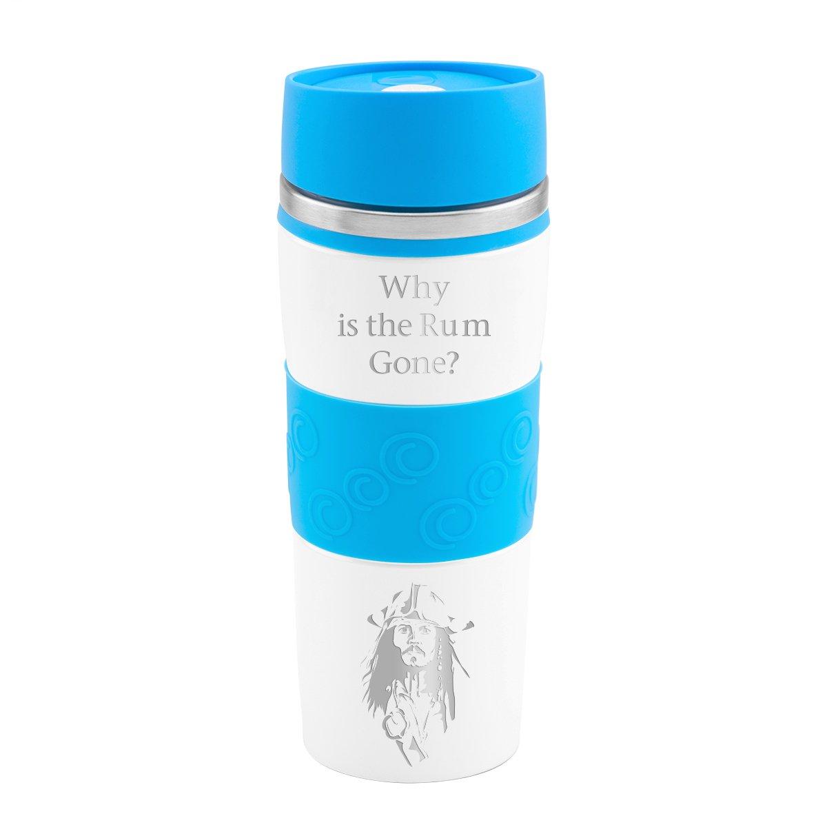 Kubek termiczny 350 ml biało-niebieski Grawer