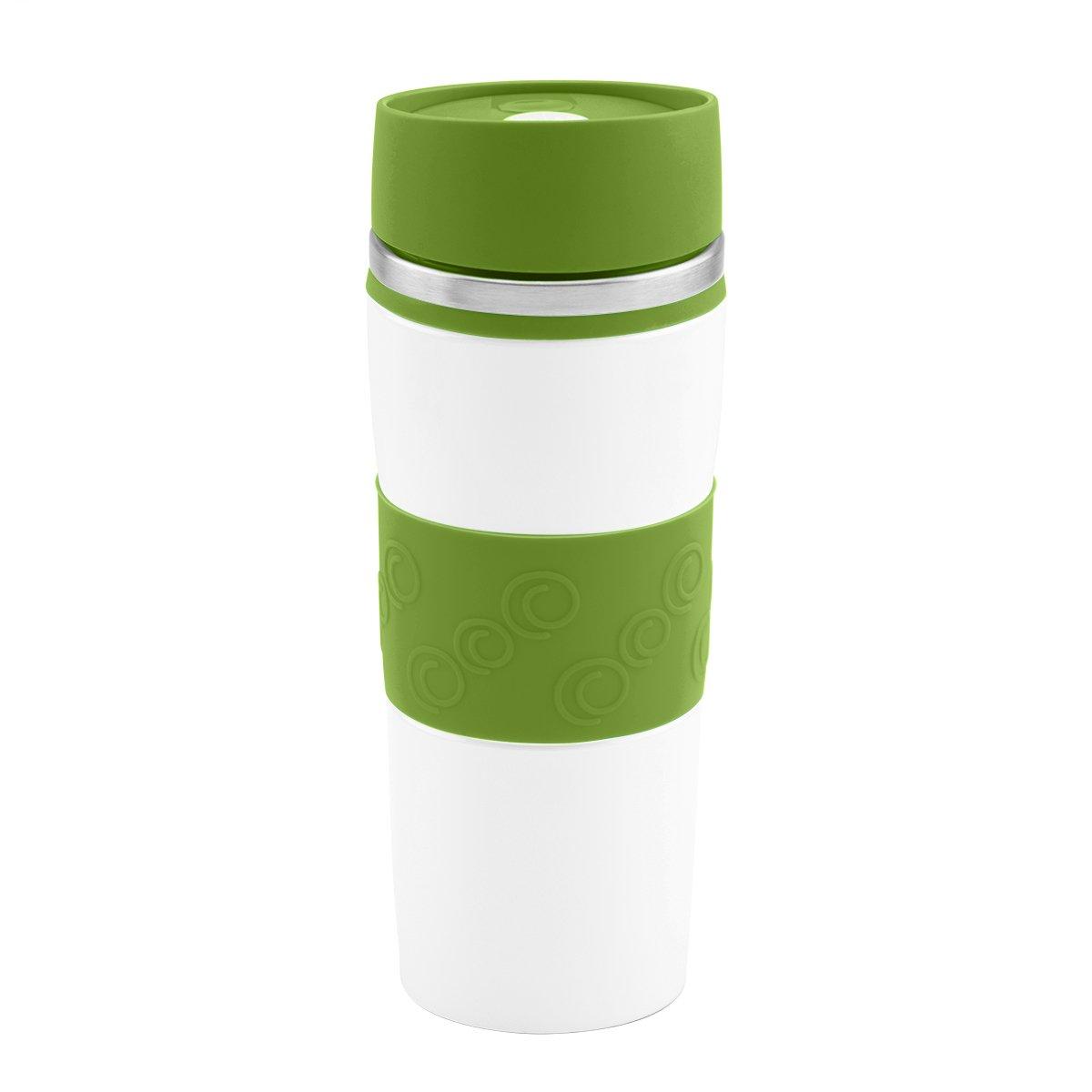 Kubek termiczny 350 ml biało-zielony Grawer