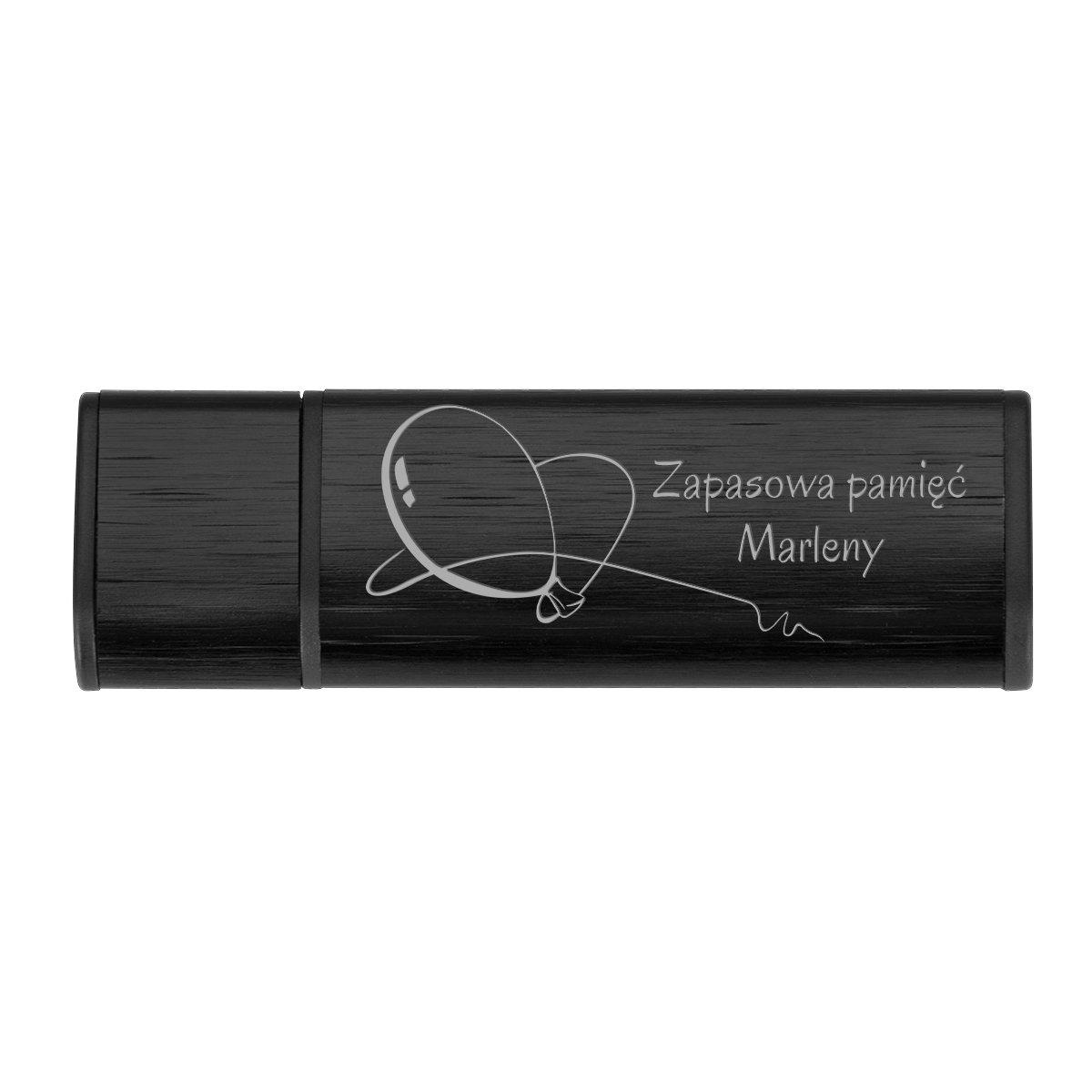 Pendrive czarno-czarny 16 GB Pamięć USB prezent z GRAWEREM