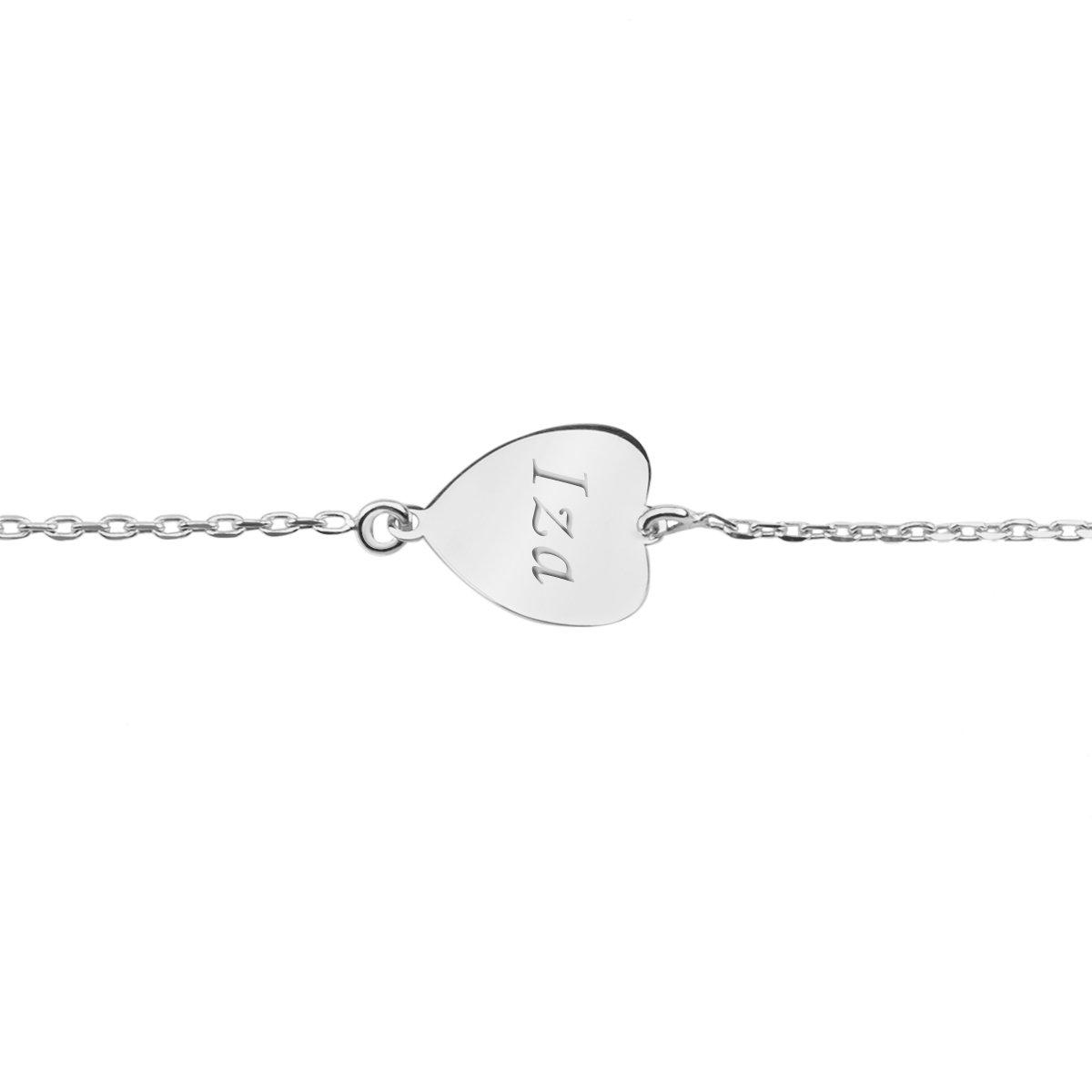 Srebrna bransoletka pr. 925 Serce Prezent z Grawerem