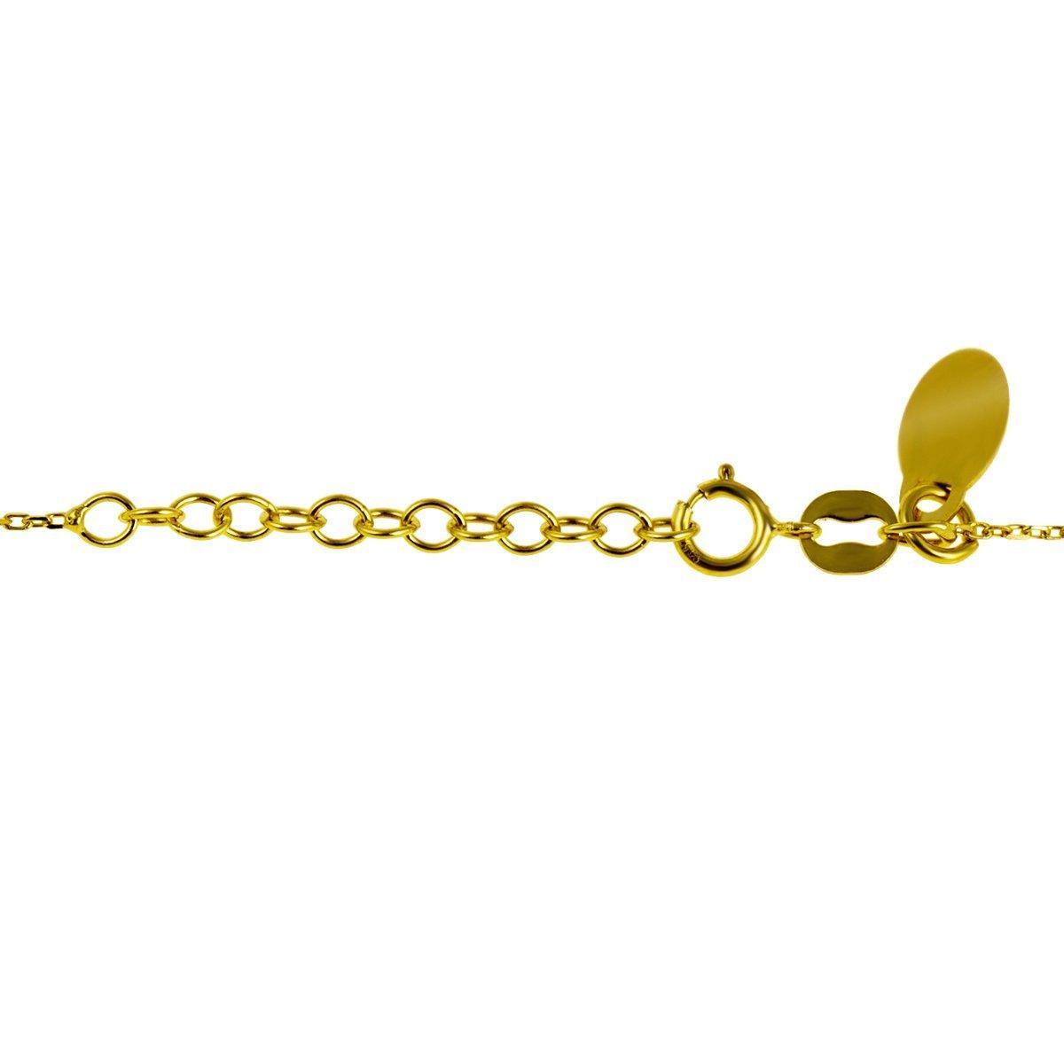Srebrny pozłacany naszyjnik pr. 925 koniczynka z cyrkonią Grawer