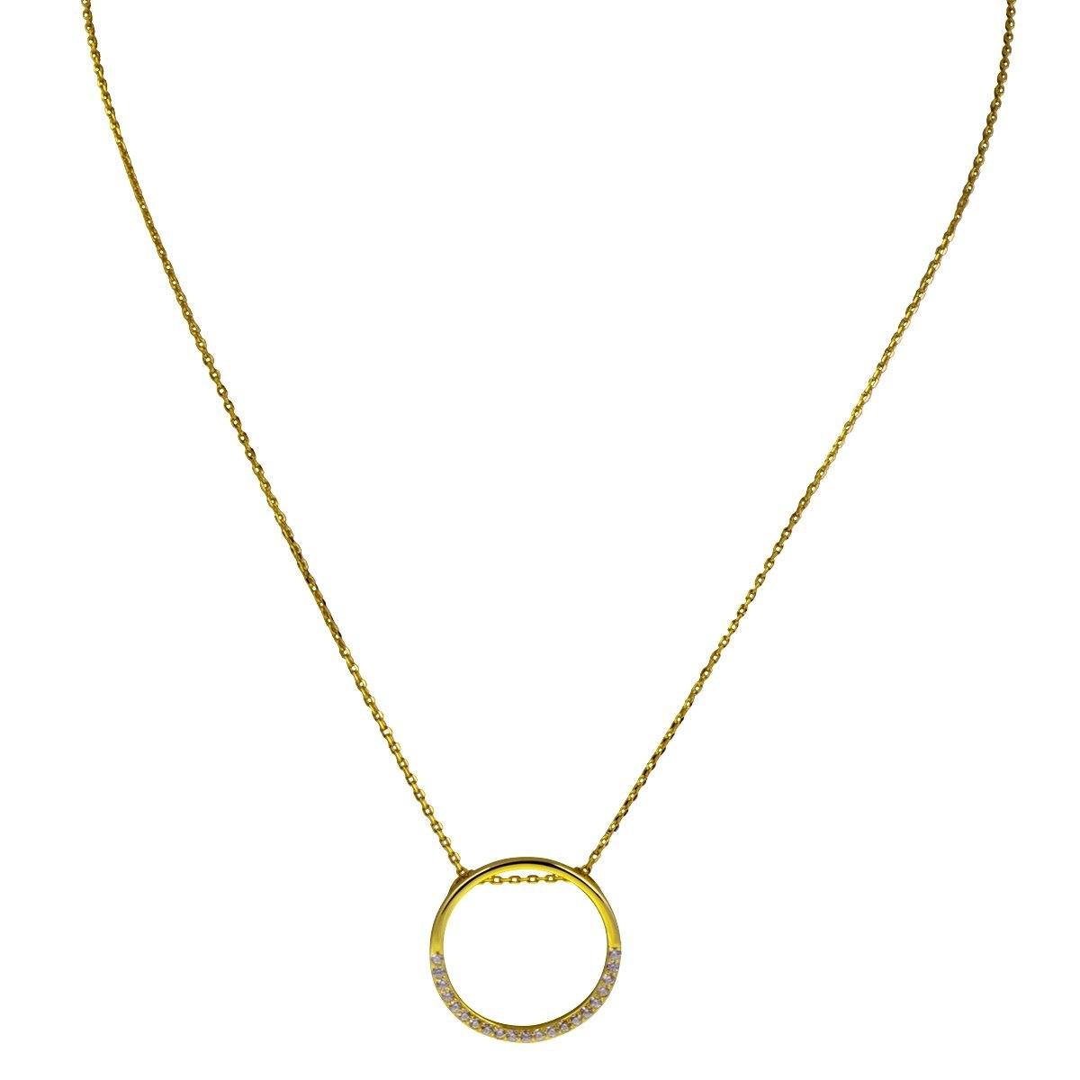 Zestaw naszyjnik + bransoletka okrąg z cyrkoniami Srebro 925 Dedykacja