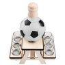 Komplet do alkoholu 7-częściowy Karafka i kieliszki piłka futbolowa z Grawerem 6