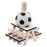 Komplet do alkoholu 7-częściowy Karafka i kieliszki piłka futbolowa z Grawerem 5