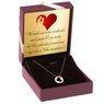 Naszyjnik celebrytka serce w kółku złoto p.585 Dedykacja 2