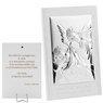 Obrazek Anioł Stróż z modlitwą na białym drewnie Grawer 1