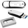 Pendrive chromowo-czarny 16 GB Pamięć USB prezent z Grawerem 1