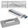 Pendrive srebrno-srebrny 16 GB Pamięć USB prezent z Grawerem 1