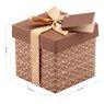 Pudełko na prezent brązowe XS  2