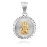 Srebrny Medalik Z Matką Boską Częstochowską Grawer 4