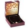 Złota bransoletka z białym kryształem pr. 585 Prezent z Grawerem 2