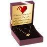 Złoty Naszyjnik Serce Celebrytka pr. 585 (14 K) GRAWER różowa kokardka 3