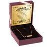 Złoty Naszyjnik pr. 333 nieskończoność z blaszką Grawer złota kokardka 2