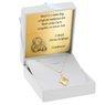 Złoty medalik romb pr. 585 Jezus Dedykacja 2