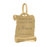 Złoty medalik z Matką Boską i Dzieciątkiem w kolorze z Grawerem / na Chrzest / I Komunię Św. / pr. 585 4